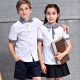 Camicia bianca internazionale dell'uniforme scolastico della camicia di polo del banco