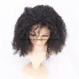 Perucas dianteiras Kinky do cabelo humano do laço do Afro curto não processado Curly