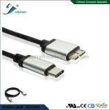 마이크로 B 10pin 연결관 케이블 영원한 알루미늄 합금 끝 세륨 RoHS에 USB 유형 C 연결관