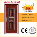 Moldeado profunda del diseño del acero Puerta de seguridad (SC-S033)