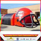 4mの高いヘルメットの膨脹可能なトンネルまたは膨脹可能なフットボールのトンネルまたは膨脹可能なトンネルのテント