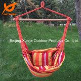 Farben-Streifen-Baumwollgewebe-hängender Stuhl mit Kissen