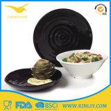 Plaque de dîner BPA-Libre de vaisselle de mélamine de modèle simple pour le restaurant