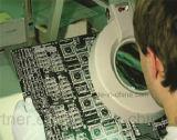 Konkurrenzfähiger Preis-blaues Farben-Puder-freie Vinylhandschuhe für Elektronik-Industrie