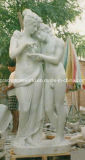 Il marmo ha intagliato una scultura delle tre signore