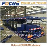 De productie van 3 Flatbed Semi Aanhangwagens van Assen 40FT voor Verkoop