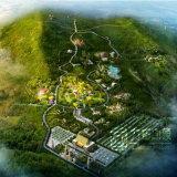高品質の鳥瞰的な眺めの景色デザインレンダリングの図形