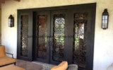 Дверь входа решетки квадратного верхнего утюга орнаментальная внешняя для дома