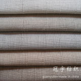 Fire Proof Treatment를 가진 조방사 Style Imitation Linen Fabric