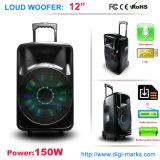 Wasser-Lautsprecher-Schalldose der Laufkatze-150W nachladbare mit Licht