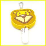 球の鎖が付いている柔らかいPVC昇進LED猿のキーのプラグ