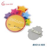 Your Own Design를 가진 아연 Alloy Silver 3D Metal Badge Pin