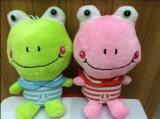 귀여운 아이 연약한 동물에 의하여 채워지는 장난감 청개구리 견면 벨벳 장난감