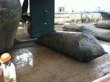 China fêz a bolsa a ar de borracha marinha para o navio que lanç e que carrega