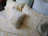 Full Embrodiery, Warm Yellow 5 Pieces Conjunto de cama