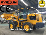 3 tonnellate di Rops&Fops Construction Wheel Loader con CE