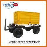 Générateur mobile diesel 10-500kw de remorque