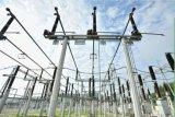 Estructura de acero de la subestación eléctrica