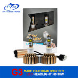 Cooling Fan Optional Bulbs, Better Than HID Xenon Kit를 가진 2016년 중국제 LED Headlight 12 Months Super Bright 로즈 Golden