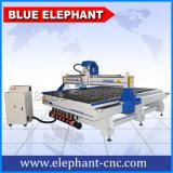Máquina de gran tamaño popular del CNC de China con el eje de rotación de la refrigeración por aire de Italia Hsd