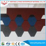 Assicella variopinta dell'asfalto di tetto della vetroresina di alta qualità impermeabile delle mattonelle