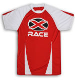 Promotion Sports Tee-shirt Red with Lime pit White Tee-shirts