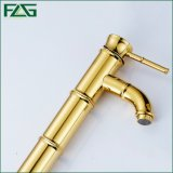 Flg Golden Classic Bathroom Faucet Single Lever Deck Mounted Taps