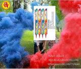 Handeinfluß-Farben-Rauch-Feuerwerke, die Farbe des Rauch-vier rastern