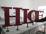 Letras de canaleta ao ar livre personalizadas quentes do metal do aço 3D inoxidável