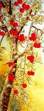 Decorações de porta 3D Papel de parede Pintura a óleo de cultura clássica chinesa