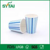 Taza de papel de la varia bebida fría de un sólo recinto de la talla de la raya de la impresión en offset