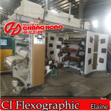 Colors 6 High Speed Paper Roll Ci Flexo Printing Machine 또는 Craft Paper Flexo Printing Machine