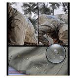 Revestimento material verde de Softshell Hoodie (QF-4124)