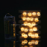 電池式のアニスの星の星明かりのストリングは結婚式のクリスマスのための銅線ライトをつける