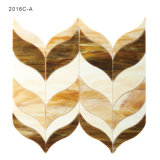 Azulejos de mosaico Shaped de encargo de cristal manchado de la pared del cuarto de baño de Houston de la mariposa