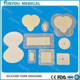 Absorbent eccellente Antibacterial Silicone Foam Dressing con Silver Ion