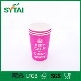 Изготовленный на заказ кофейные чашки и крышка напечатанного качества одностеночные бумажные