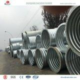 Tubo de acero acanalado del semicírculo para la alcantarilla del canal a México