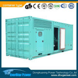 тип тепловозный комплект контейнера силы 280kw 350kVA малошумный генератора