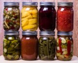 Rund Stau-Soße-Küche-Nahrungsmittelglasgläser mit Eisen-Kappen leeren