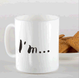 Tasse de café faite sur commande en céramique de cuvette de thé de nouveauté avec drôle