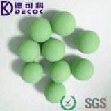 ゴム製球のゴム製上塗を施してある鋼鉄金属球
