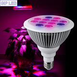 Indoor Application를 위한 주문을 받아서 만들어진 Spectrum PAR38 12W LED Plant Grow Light