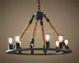 Lâmpada decorativa do pendente com corda para a HOME ou o hotel