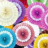 Le rosette di cerimonia nuziale/i ventilatori di carta carta velina/tessuto d'attaccatura smazza le rosette