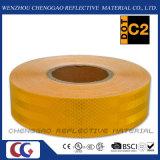 Bande matérielle r3fléchissante jaune prismatique micro faite sur commande pour la circulation (CG5700-OY)