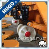 Camion di pallet della mano da 3 tonnellate con le forcelle di 1150*520 millimetro con le rotelle di nylon con la pompa saldata