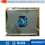 赤いカラー固体ドアの箱の冷凍庫(BD 255)