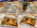 로스트 치킨을 감싸기를 위한 알루미늄 호일