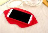 3D LG G4 (XSF-014)のためのセクシーなピンクのリップのシリコーンの携帯電話の箱